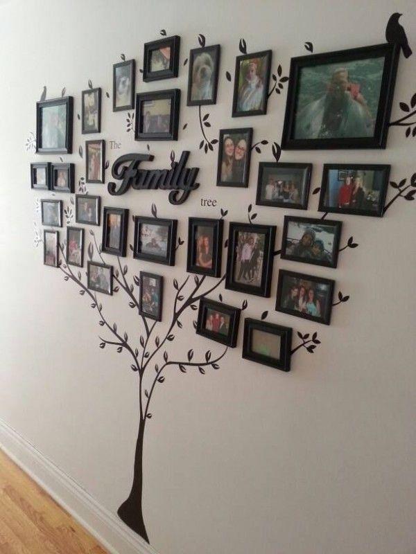 25 maneras creativas y originales de decorar tu casa con fotografías ...