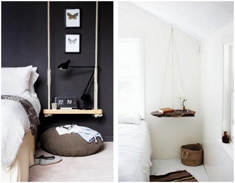 Pon un toque de originalidad en tu dormitorio con estas mesillas de noche nicas casas incre bles - Mesitas de noche colgantes ...