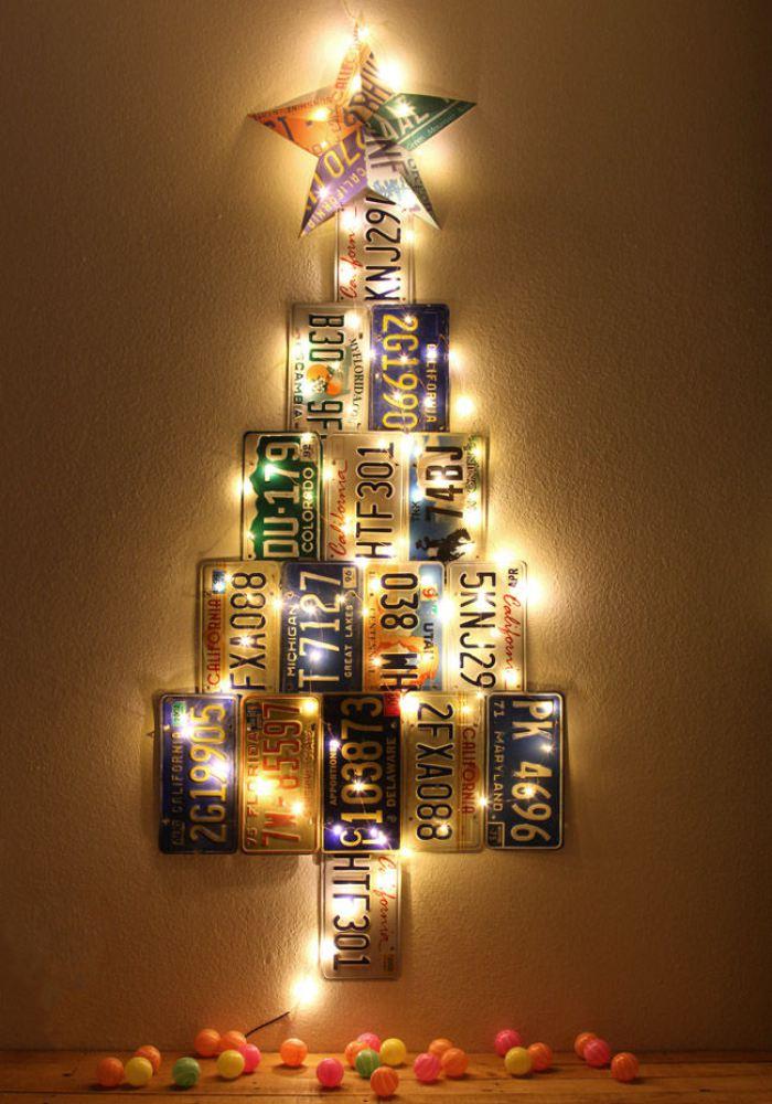 20 rboles de navidad que puedes hacer tu mismo con cosas - Arbol de navidad hecho de luces ...