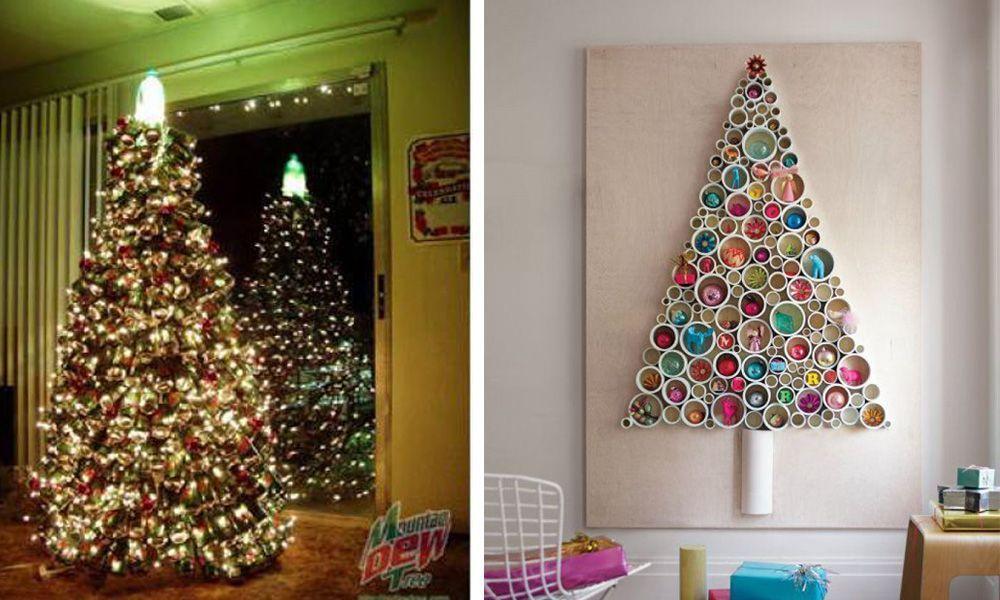 20 Arboles De Navidad Que Puedes Hacer Tu Mismo Con Cosas Recicladas - Hacer-arboles-de-navidad