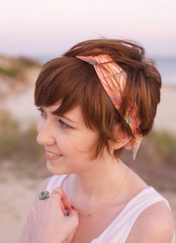 Peinados Rapidos Y Sencillos Para El Cabello Corto Que Te Enamoraran - Pelo-corto-con-diadema