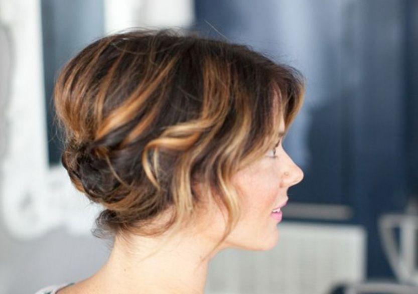 Peinados recogidos cabello corto