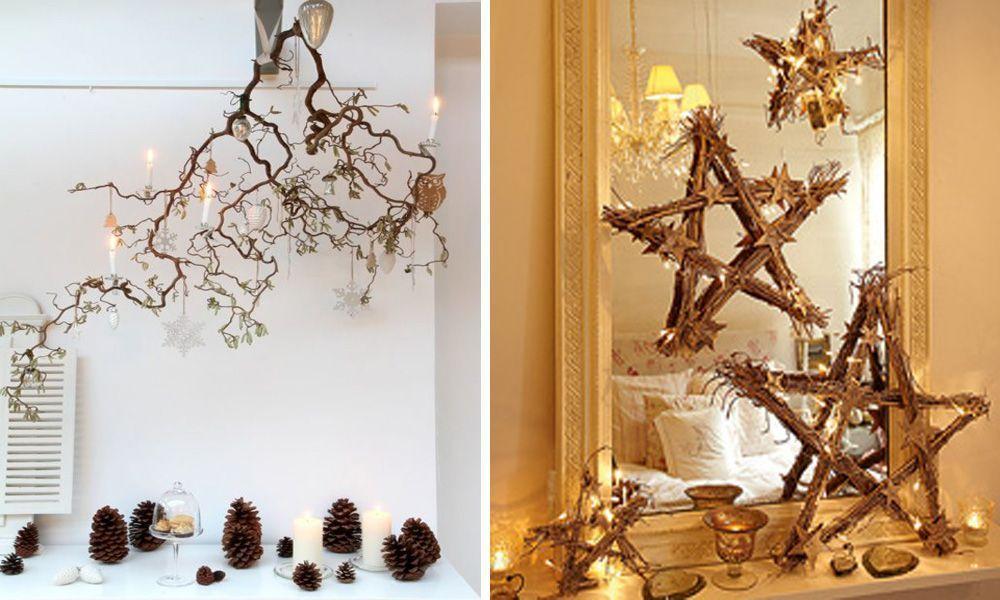 Estas navidades consigue una decoraci n de lujo utilizando for Decoracion con ramas secas