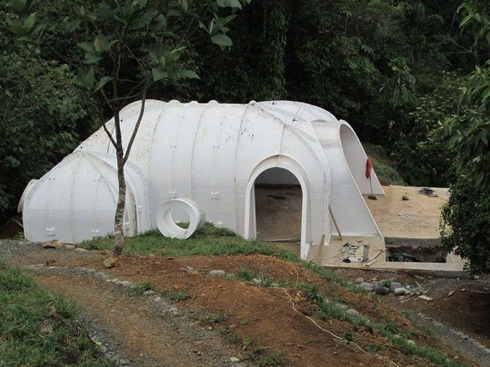 carcasa casa tejado vegetal ecologica barata integrada construccion