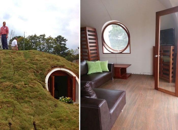 casa tejado vegetal ecologica barata integrada construccion exterior personas interior comedor