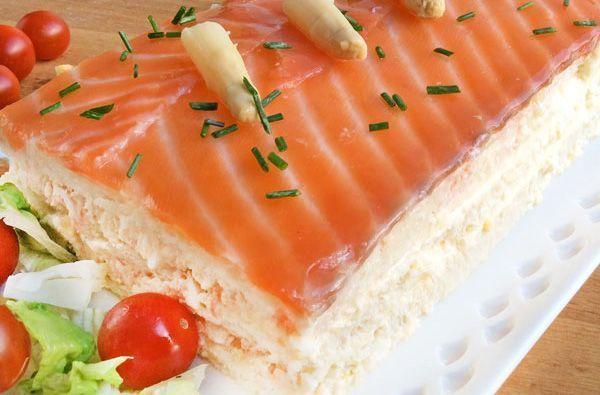 Delicioso pastel de salm n y esp rragos f cil y r pido de Plato rapido y facil de preparar