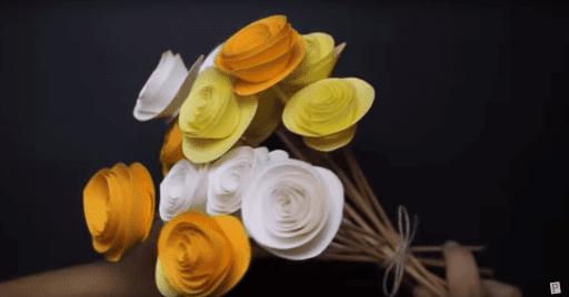 rosas papel
