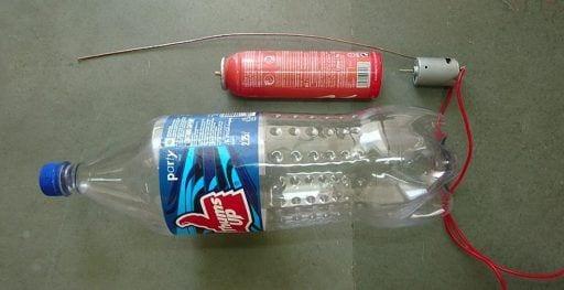 fabrica tu propia aspiradora con una botella de plastico un motor electrico