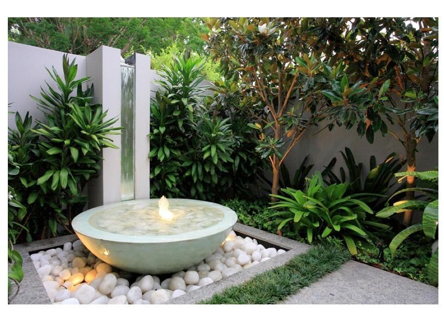 Elige la fuente ideal para tu terraza con estos consejos for Fuentes de jardin modernas