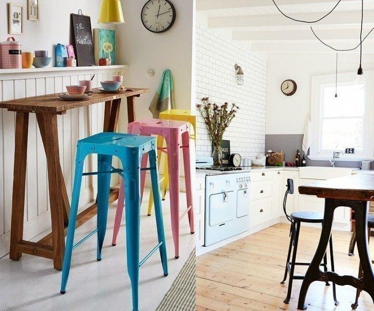 No tienes que tener una cocina grande para poner una barra - Barra cocina pared ...