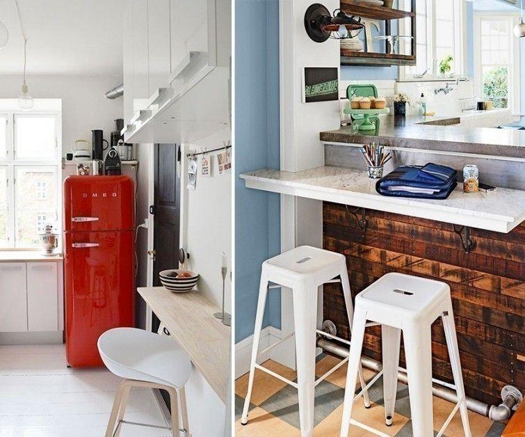 No tienes que tener una cocina grande para poner una barra. Te lo ...