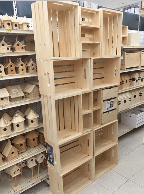 Te ense amos a hacer una preciosa despensa con cajas de - Donde conseguir cajas de madera ...