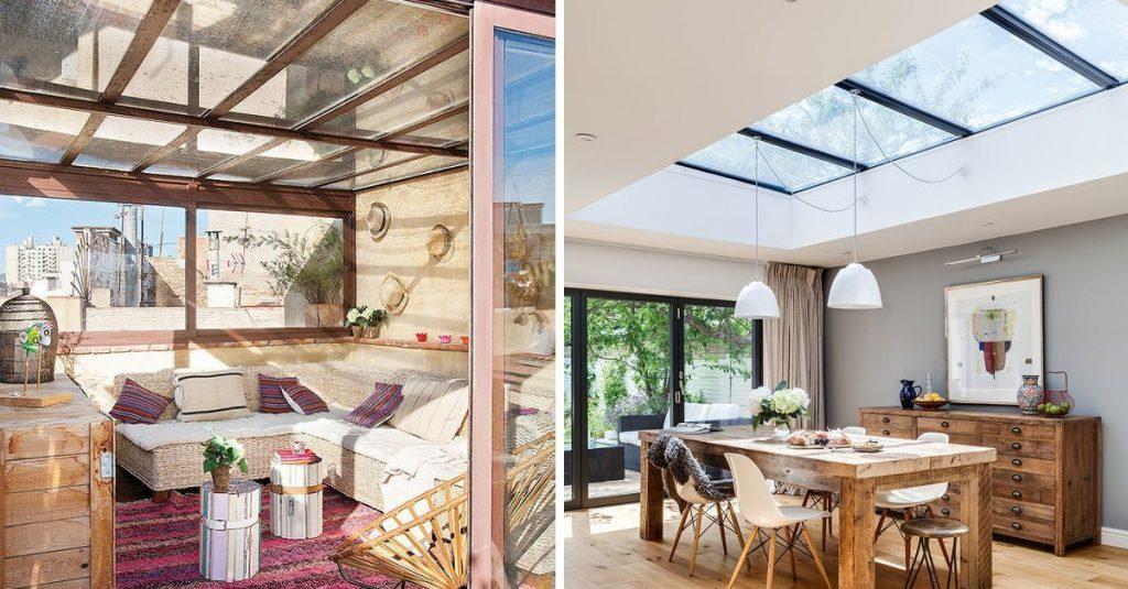 Quieres m s luz natural en tu casa los techos transparentes tienen muchas ventajas casas - Iluminacion de techos ...
