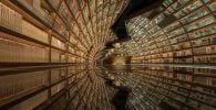 biblioteca futurista china destacada