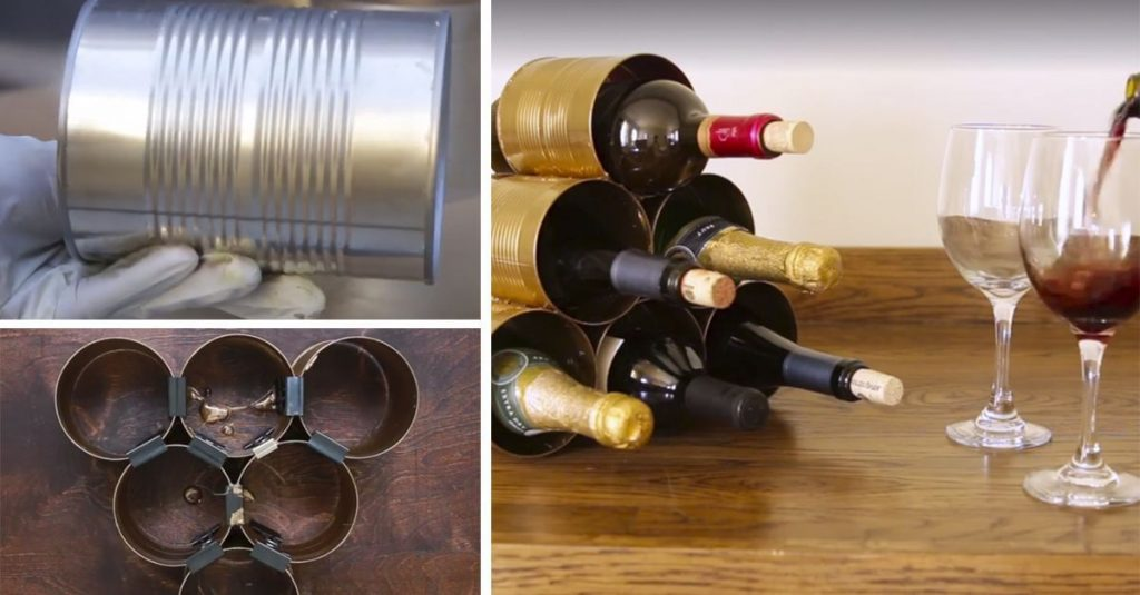 Te ense amos a hacer tu propia vinoteca reciclando una cuantas latas casas incre bles - Como montar una vinoteca ...