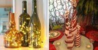 adornar botellas navidad destacada