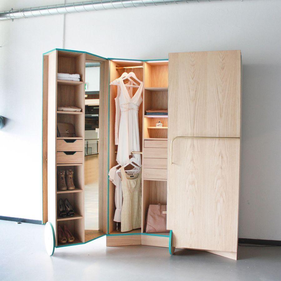 Te falta espacio en tu armario te damos 8 soluciones muy sencillas casas incre bles - Armarios para espacios pequenos ...