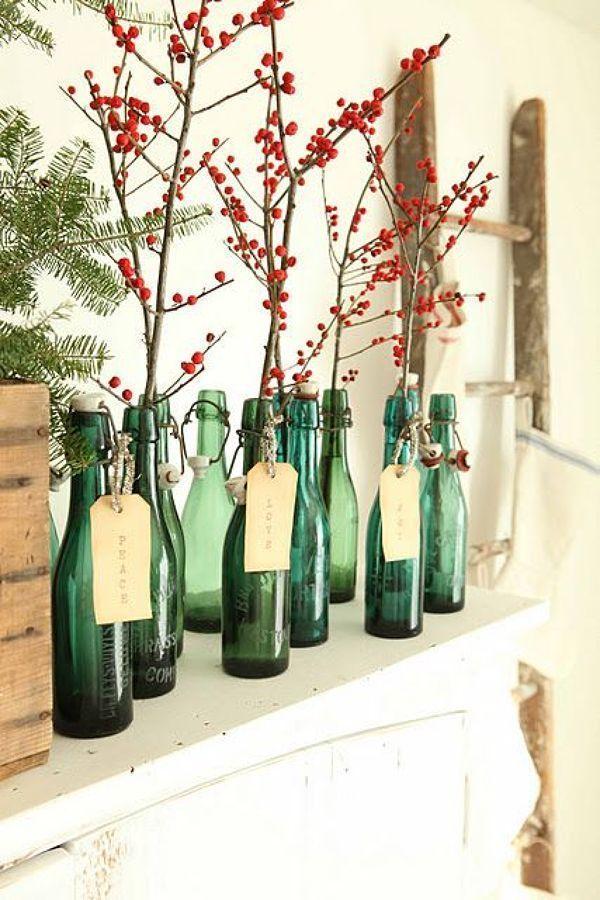 S original esta navidad y crea tu propio rbol utilizando ramas secas casas increiblescasas - Como decorar un arbol seco ...