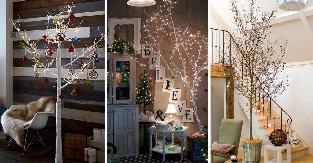 S original esta navidad y crea tu propio rbol utilizando - Arboles secos para decoracion ...