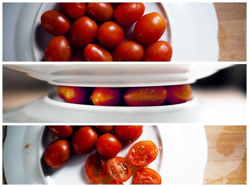 Pelar y cortar frutasy verduras