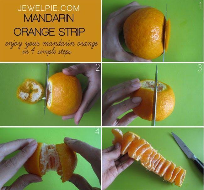 pelar y cortar naranja