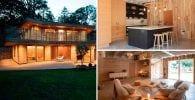 casa de madera destacada