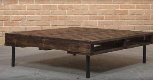 mesa de centro con pales