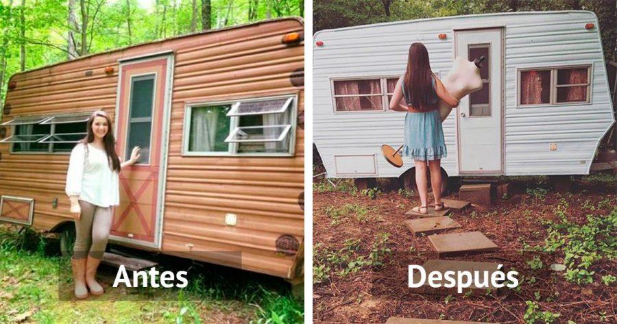 Cuando veas el antes y el despu s de esta caravana for Remodelacion de casas viejas