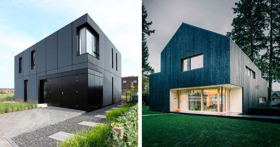 12 fabulosas casas en las que el negro es el color protagonista