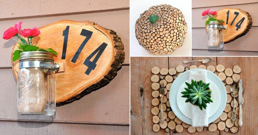 10 maneras geniales de decorar tu casa con madera casas for Formas de decorar una casa