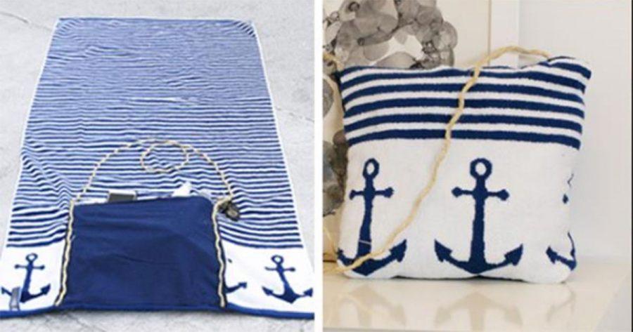 Cuando veas lo fácil que es hacer este bolso con una toalla, ¡querrás tenerlo ya mismo!
