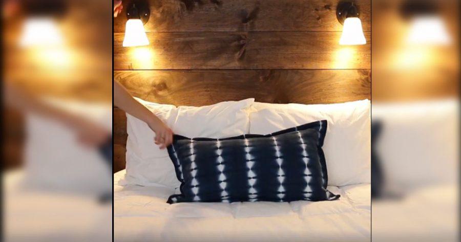 Consigue hacer tú mismo este cabecero de cama DIY con luz incorporada