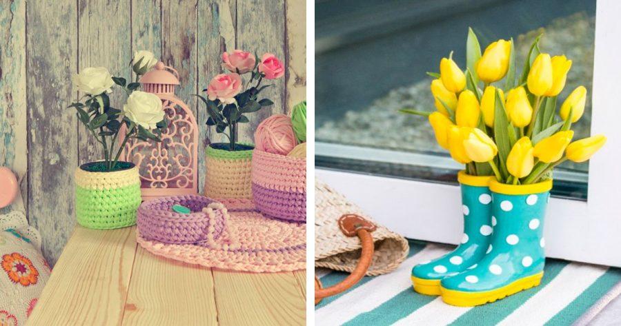 15 originales maneras de decorar tu casa con flores for Maneras de decorar tu casa