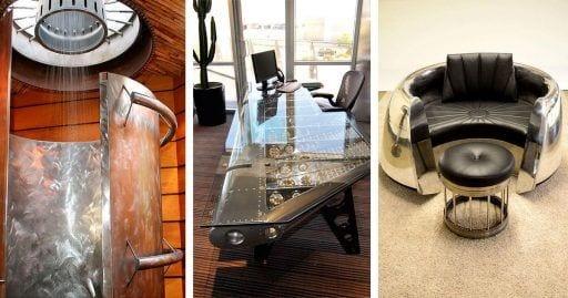 muebles piezas avion