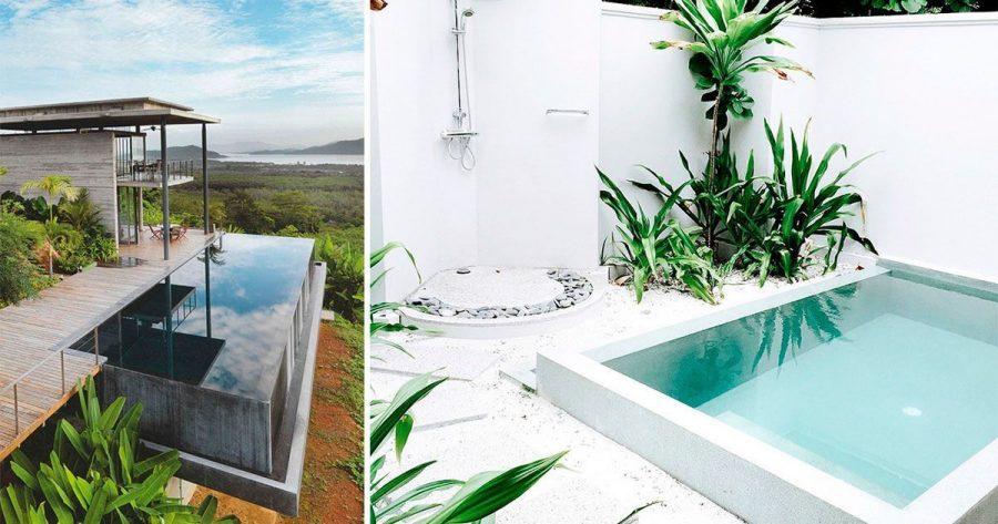10 preciosas piscinas de microcemento