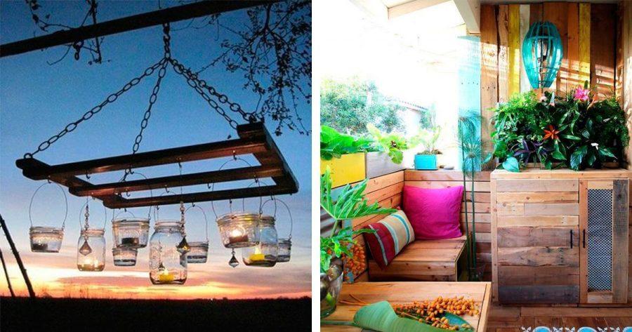 14 formas originales de reutilizar palets para la decoración del jardín