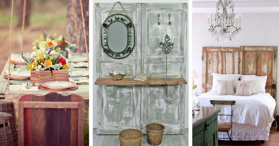 Estas 7 ideas son geniales para reutilizar viejas puertas de la manera más decorativa en nuestro hogar