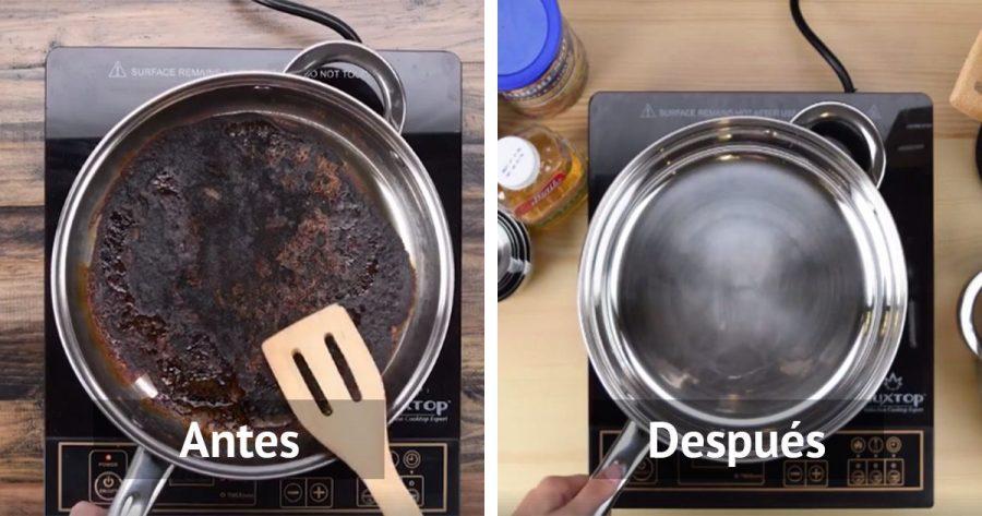 Te presentamos la solución definitiva para salvar una sartén quemada de la forma más fácil