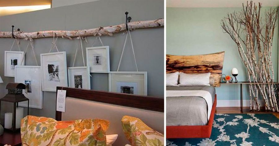 16 ideas originales para decorar con troncos de madera for Tronco de arbol para decoracion