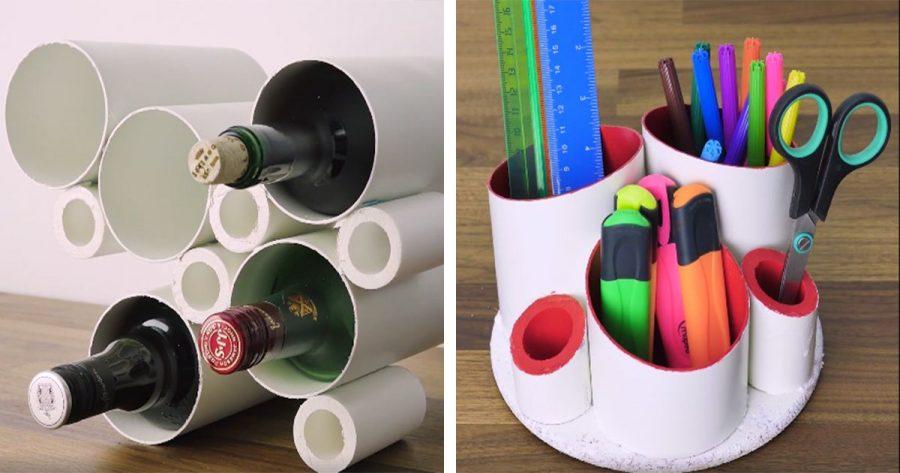 7 ideas útiles para hacer con tubos PVC