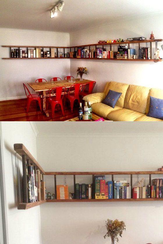 15 buenas ideas para hacer unas estanterías en casa 03