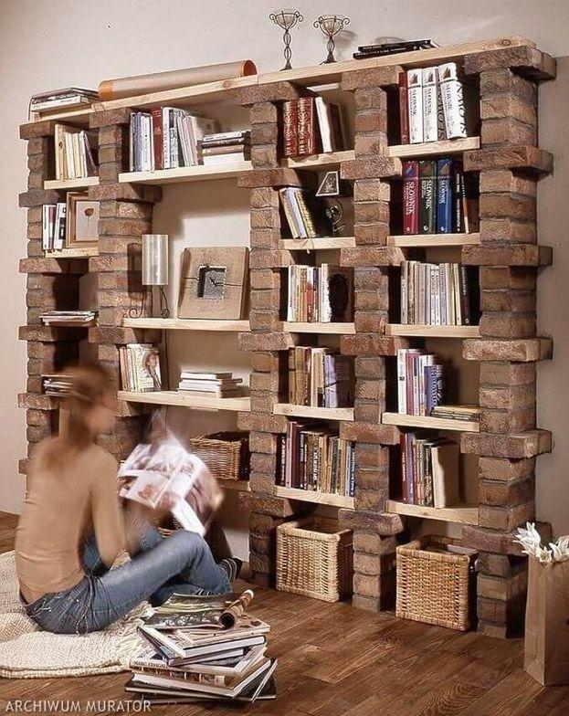 15 buenas ideas para hacer unas estanterías en casa 04
