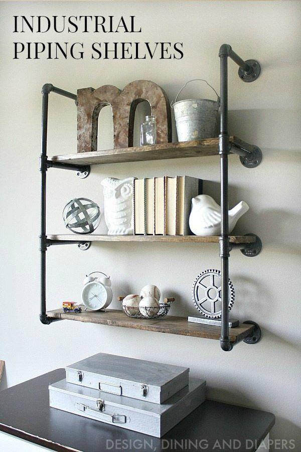 15 buenas ideas para hacer unas estanterías en casa 08