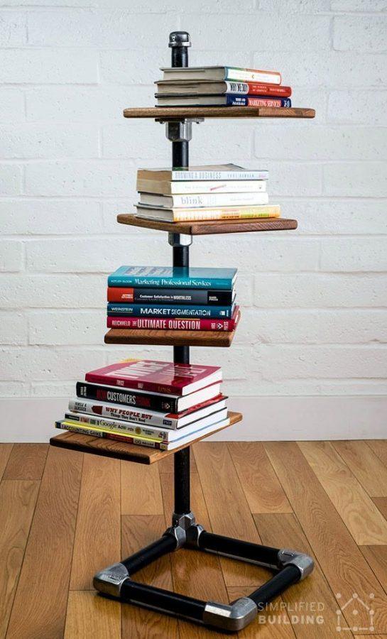 15 buenas ideas para hacer unas estanterías en casa 10