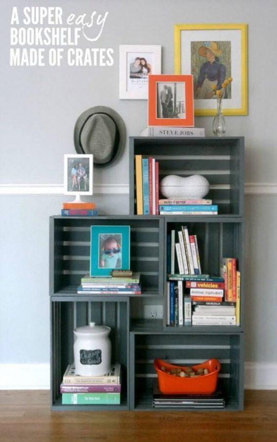 15 buenas ideas para hacer unas estanterías en casa 14