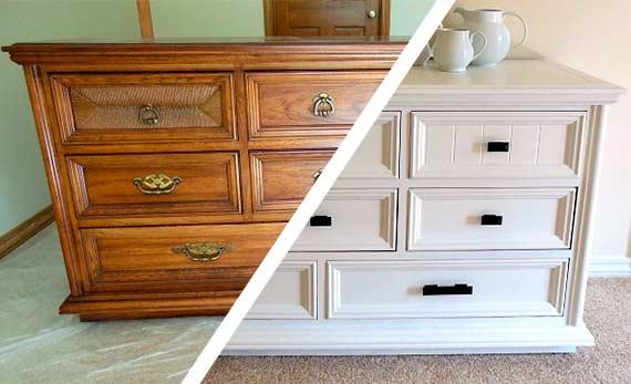 mueble barnizado y mueble pintado compresor aire