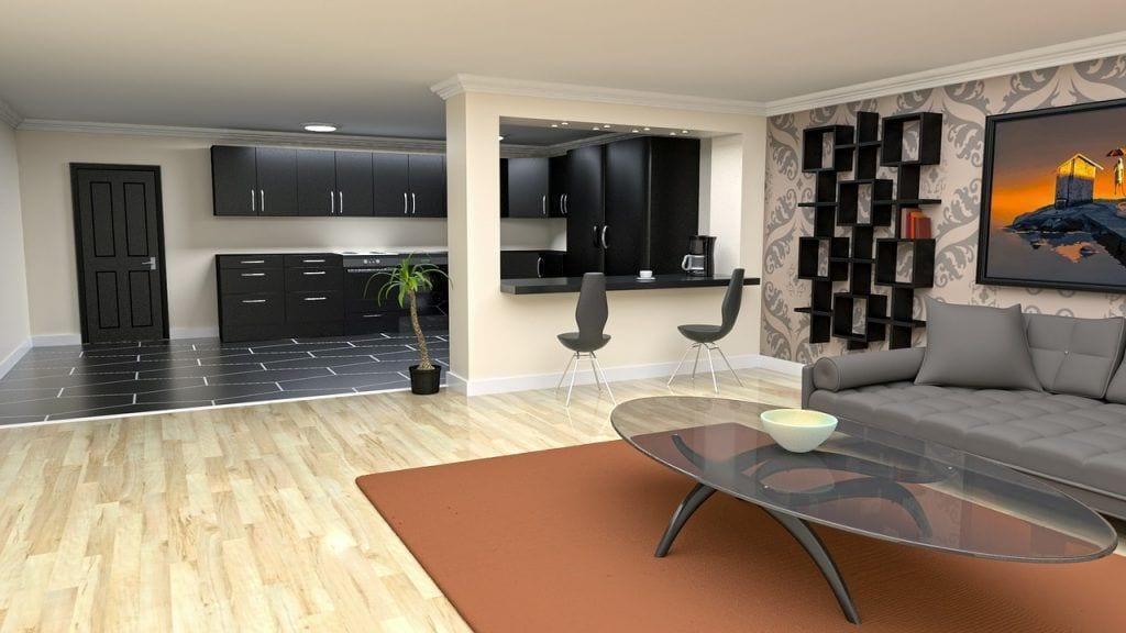 claves-estilos-salones-modernos-mesita-alfombra-parquet