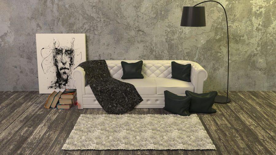 elementos-basicos-decoracion-diseno-interior_sofa-cuadro-lampara