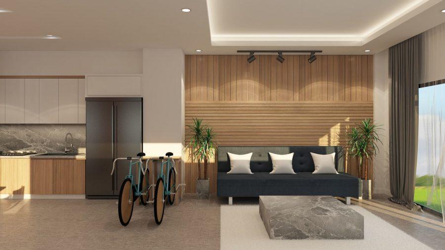 feng-shui-estilo-vida-armonia-salon-sofa-ventana-bicis-cocina
