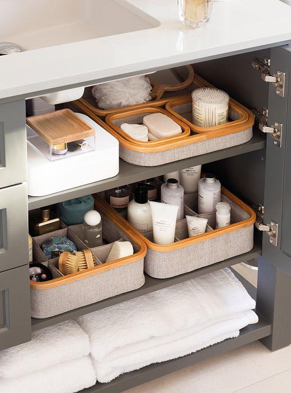 organizar baño metodo konmari almacenaje
